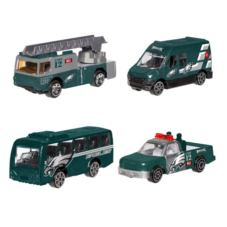 Forever Collectibles - 4 Pack Die Cast Cars, Philadelphia Eagles ()