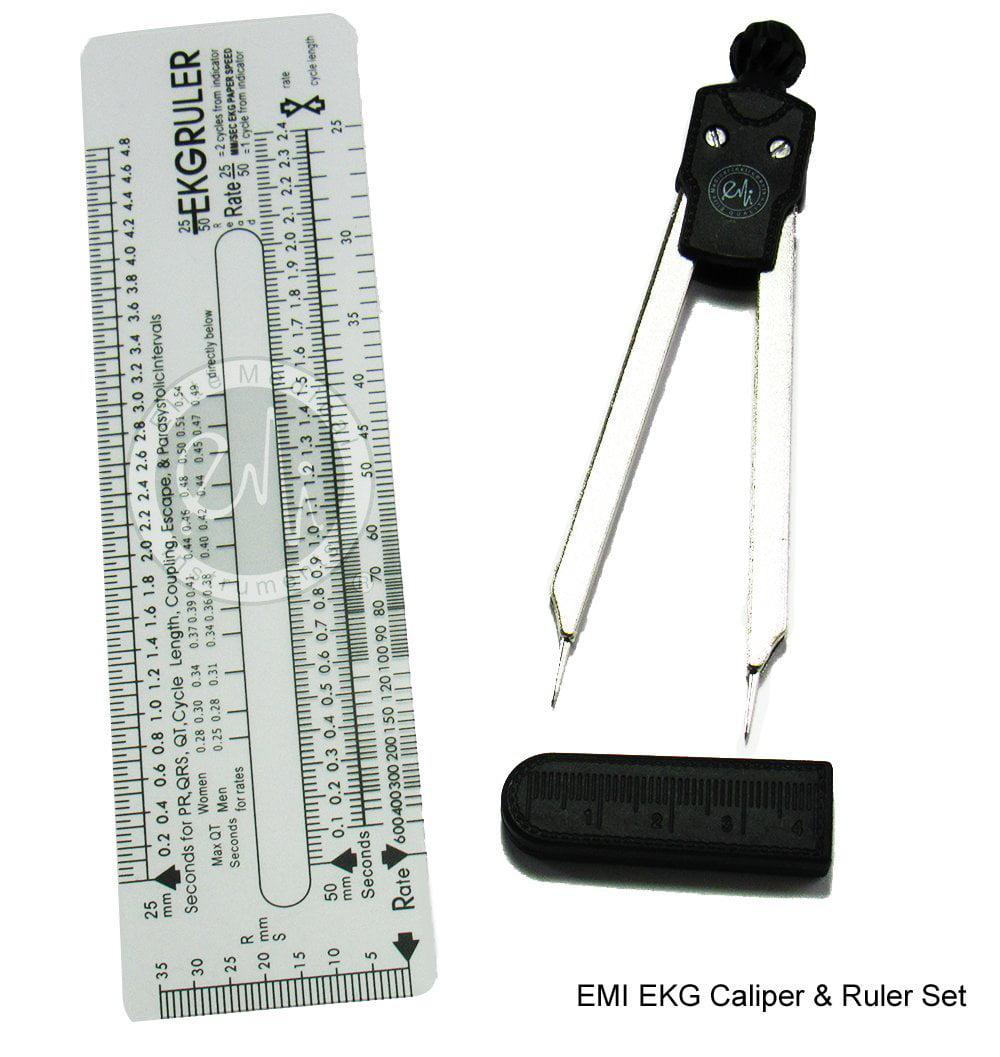 Scrubsmart ekg caliper and ekg ruler walmart fandeluxe Image collections