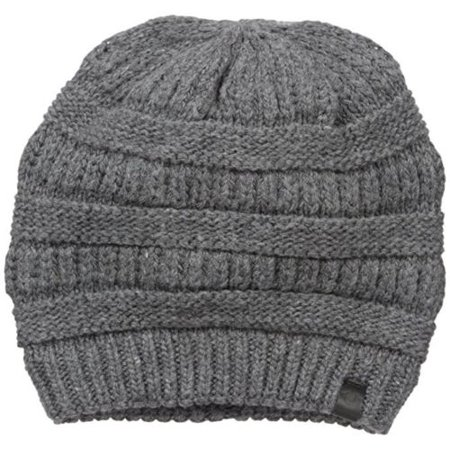 0453696426be3 True Religion Ribbed Wool Blend Fashion Winter Beanie Cap Hat One Size Gray  - Walmart.com