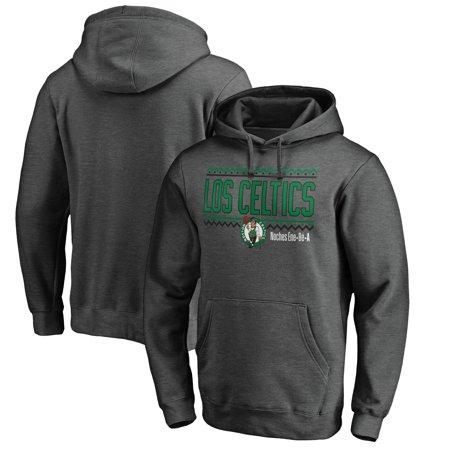 Boston Celtics Fanatics Branded Noches Ene-Be-A Pullover Hoodie - Heather Gray