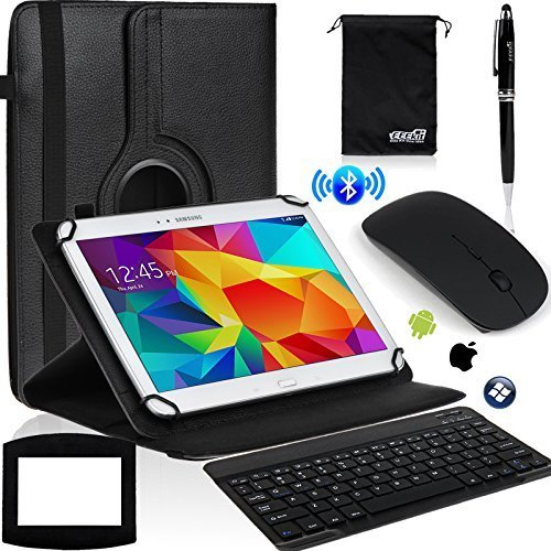 Rotaty Case, Bluetooth Keyboard/Mouse for 10 Inch Tablet Lenovo Tab 2 A10 70 IdeaTab, EEEKit 6in1 Office Kit