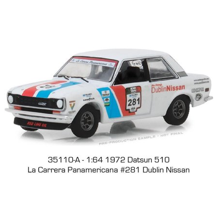 GREENLIGHT 1:64 ALL-TERRAIN SERIES 7 - 1972 DATSUN 510 - LA CARRERA PANAMERICANA #281 DUBLIN NISSAN - 1972 Nissan 1200 Engine