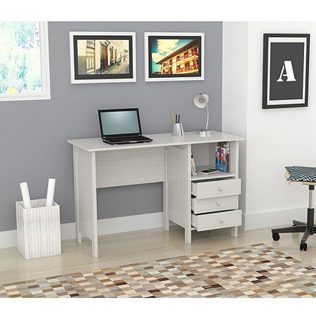 Inval Laura Collection Computer Desk, Laricina-White Finish Style Collection Computer