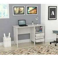 Inval Laura Collection Computer Desk, Laricina-White Finish