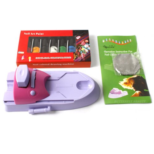 Nail Art Printing Stamp Stamper Machine Kit DIY Nail Polish Printer Nail Design, Ship from USA,Brand HotEnergy