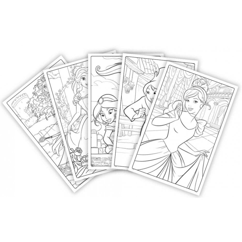 Crayola Disney Princess Coloring Pages Giant Coloring Pages 18 Count Walmart Com Walmart Com
