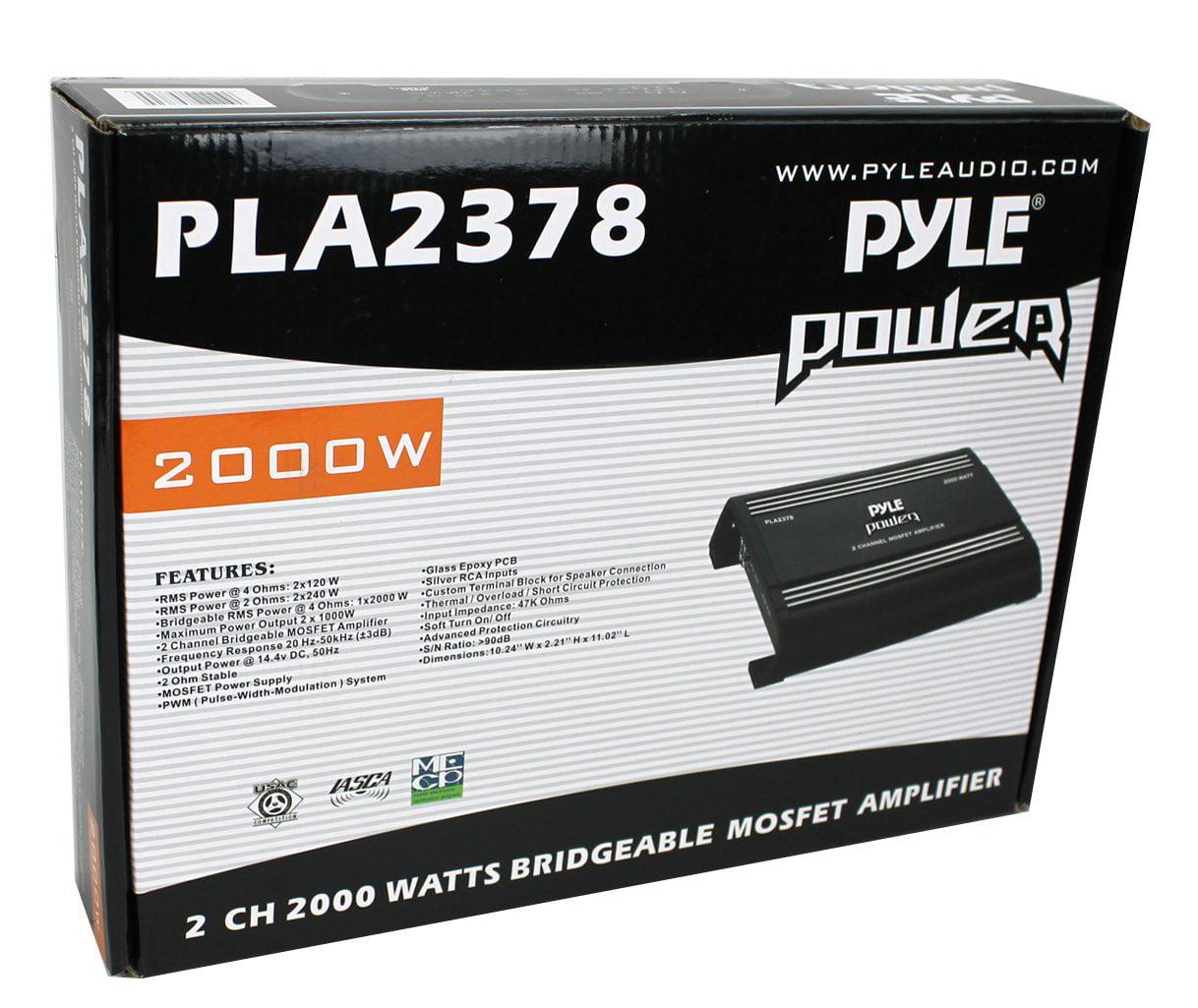 2 Channel 2000 Watts Bridgeable Mosfet Amplifier Power Amp