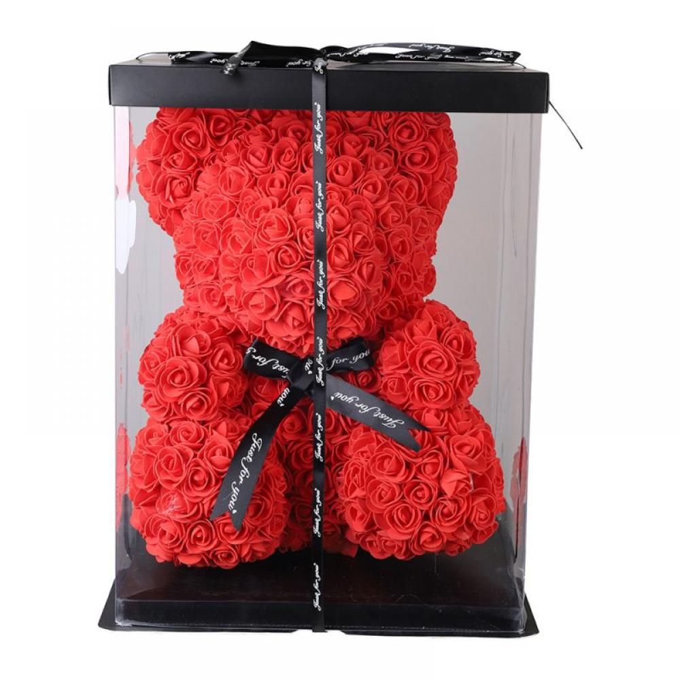 25CM /& 40CM ROSE TEDDY BEAR FOAM VALENTINES DAY /& BIRTHDAY GIFT WITH BOX
