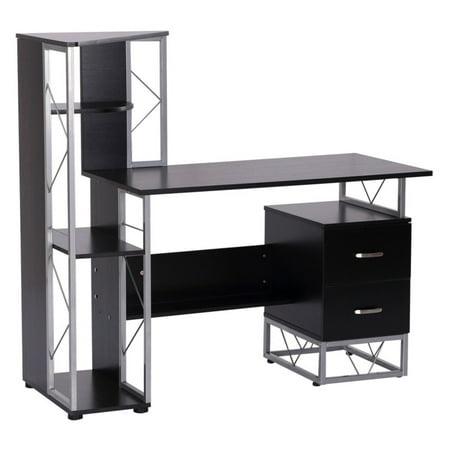 HomCom Multi Level Tower Office Workstation Computer Desk ()