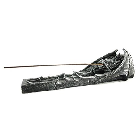 Fierce Dragon Incense Stick Holder   Mythical Fantasy Home Decorative Sculptures Incense Burner   Medieval and Gothic Gifts and Home Decor