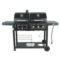 RevoAce Dual Fuel Gas & Charcoal Combo Grill, Black with Stainless Steel, GBC1793W