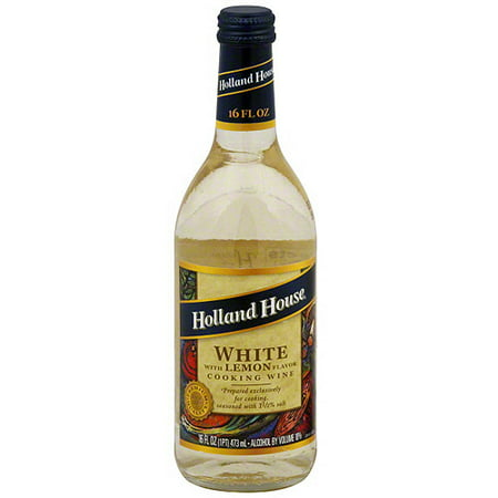 Holland House White Cooking Wine With Lemon Flavor, 16 oz (Pack of 6)