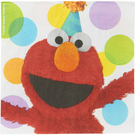 Elmo Party Lunch Napkins, 16 - Elmo Party Decorations