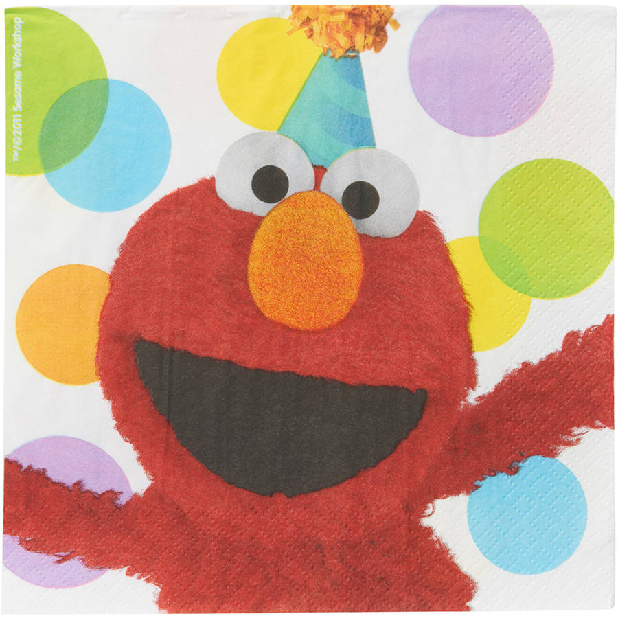 Elmo Lunch Napkins, 16 Count, Party Supplies