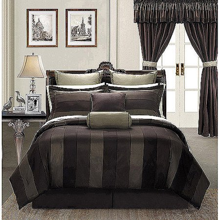 EverRouge Midnight 24-piece Room in a Bag Bedding and Windows Treatment Set