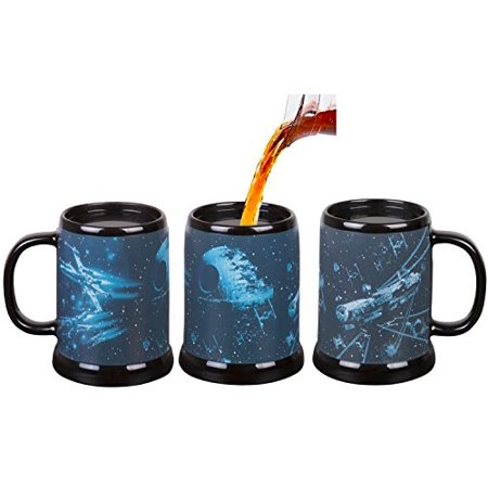 Empire Mug - Star Wars Heat Reveal Stein Mug - Death Star Space Battle from The Empire Strikes Back - Scene Activates with Heat - 20 oz
