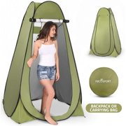 Pop-up privacy tent-instant portable outdoor shower tent, camping toilet and diaper changing room, rain bucket with window