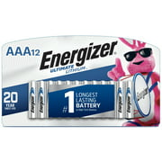 Energizer Ultimate Lithium AAA Batteries, 12 Pack