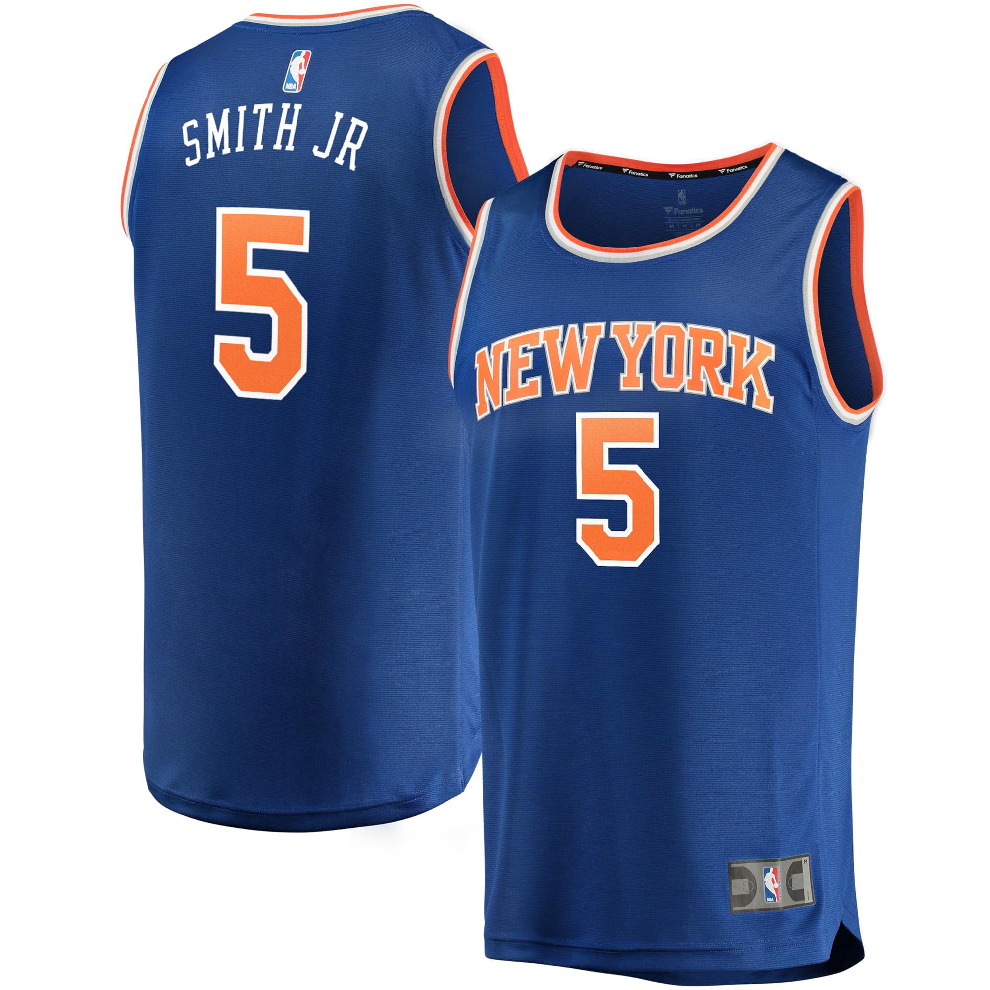 Fanatics - JR Smith New York Knicks Fanatics Branded Youth Fast Break Replica Jersey Royal - Icon Edition - Walmart.com
