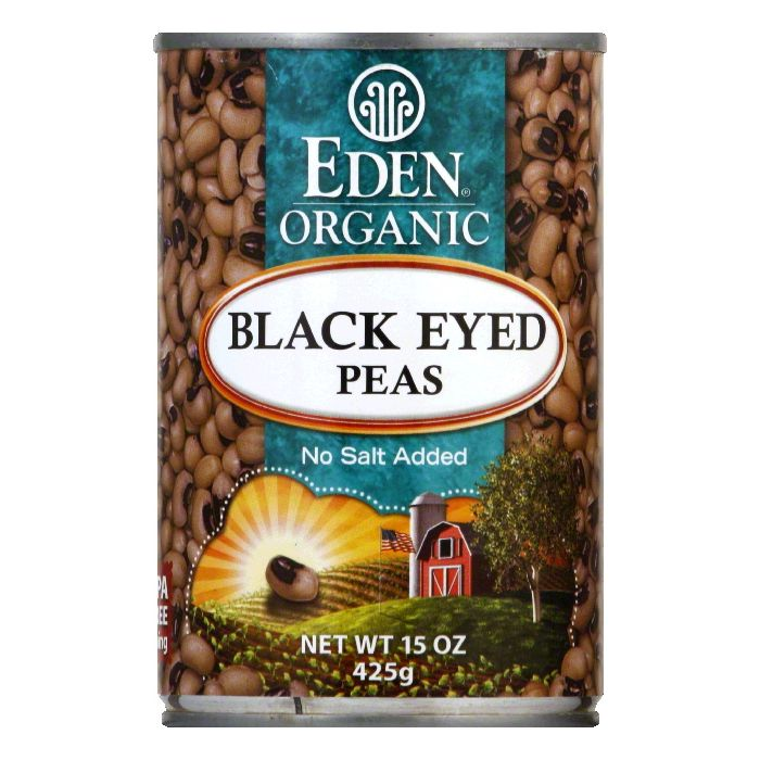 Eden Organic Black Eyed Peas, 15 OZ (Pack of 6)