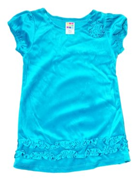 649bee40315 Product Image Toddler Baby Girls Turquoise Velvet Ruffle Shift Dress  Holiday Party Dress. Healthtex