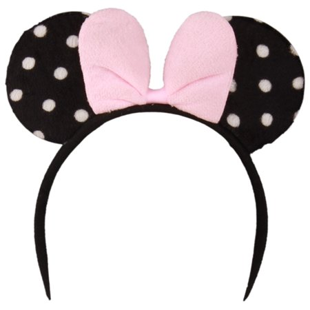 Enimay Childrens Girls Mickey Mouse Headband Dress Up Halloween Baby Shower Costume Pink Dots One Size - Moses Costumes