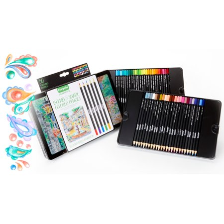 Crayola 50 Piece Signature Blend & Shade Colored Pencils With Decorative Tin