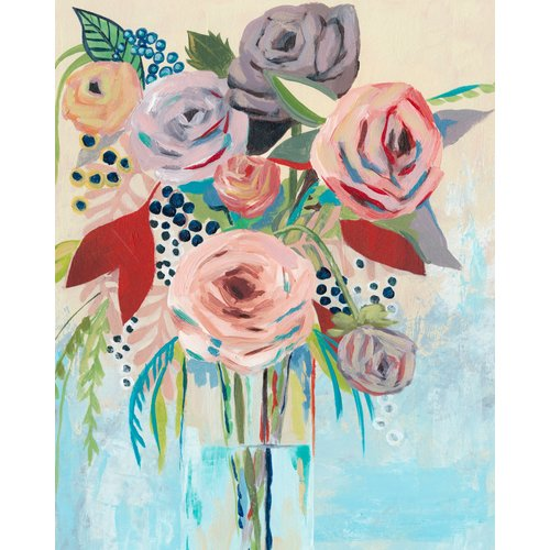 Courtside Market 'Roseate Posy II' Painting Print on Canvas