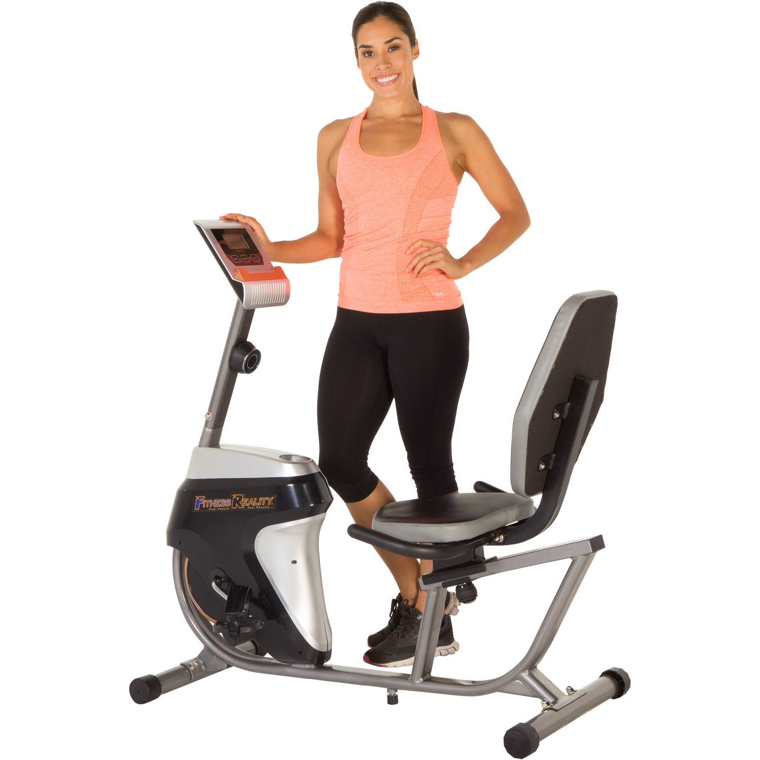 Fitness Reality R4000 Recumbent Exercise Bike with Workout Goal Setting Computer