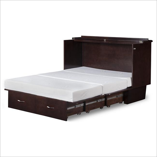 walmart furniture beds atlantic furniture ac5840001 deerfield murphy bed 13777