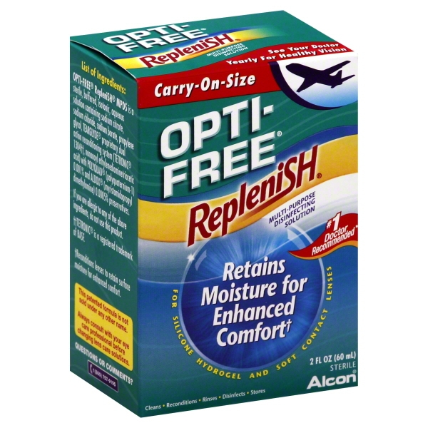 Opti-Free RepleniSH Multi Purpose Disinfecting Solution-2 oz (60 ml), Carry On Size