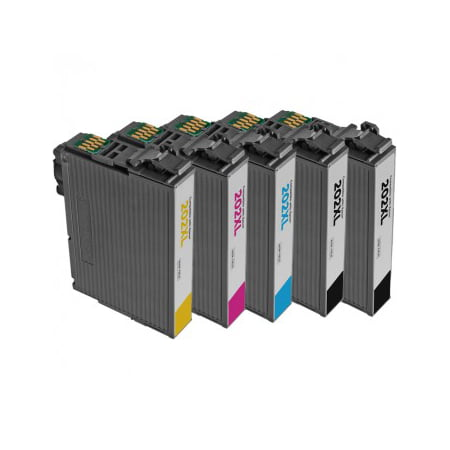 5 Pack: Remanufactured Epson 202XL ink cartridges - high capacity pack of 5 Epson T202 ink cartridges for use in Epson Expression XP-5100 / WorkForce