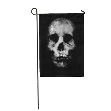 LADDKE Abstract Halloween Scary Grunge with Spooky Skull Awesome Design with Black Garden Flag Decorative Flag House Banner 28x40 inch