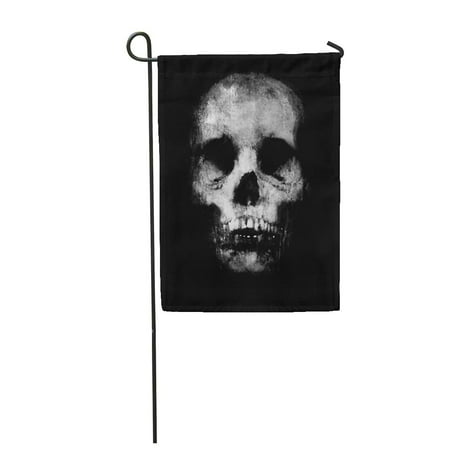 Awesome Skull Design - LADDKE Abstract Halloween Scary Grunge with Spooky Skull Awesome Design with Black Garden Flag Decorative Flag House Banner 12x18 inch