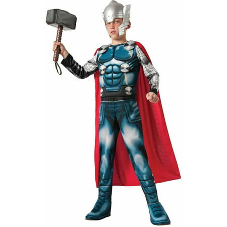 Thor Movie Costumes (Avengers Assemble Deluxe Thor Boys' Child Halloween)