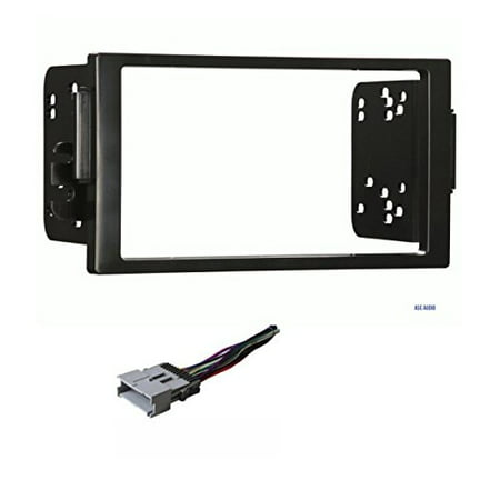 Car Stereo Dash Kit and Wire Harness for Installing a new Double Din Radio for 2004-2005 Saturn Ion and Vue (Vue Stereo)
