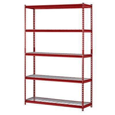 Muscle Rack 5 Shelf Steel Garage Storage Wire Shelving Unit. Muscle Rack 5 Shelf Steel Garage Storage Wire Shelving Unit