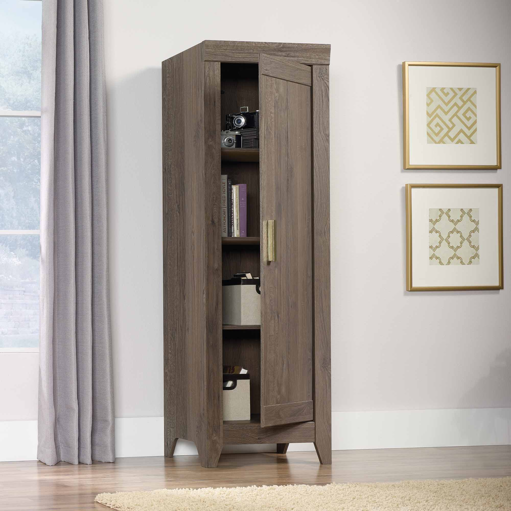 Sauder Kitchen Furniture Sauder Adept Storage Narrow Storage Cabinet Multiple Colors