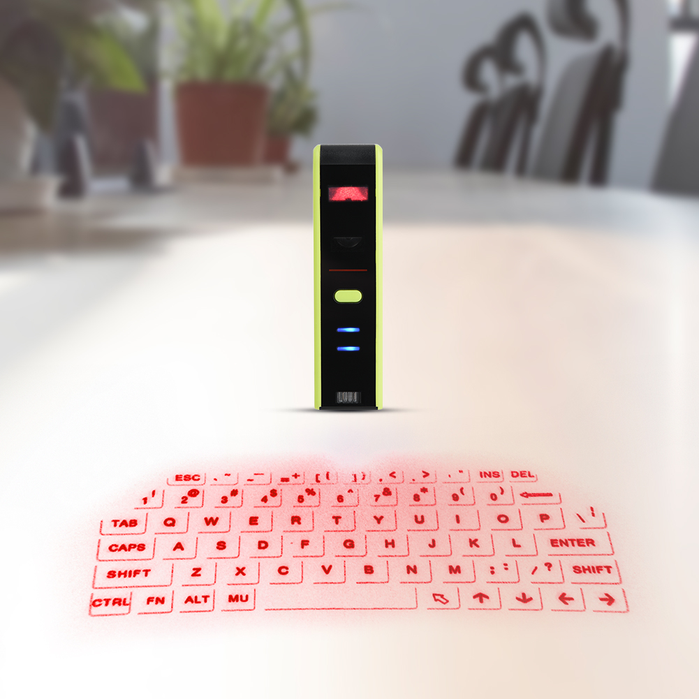 Yosoo Wireless Bluetooth Laser Virtual Projection Keyboard+Touchpad Mouse for Tablet Smartphone, Bluetooth Keyboard Mouse, Bluetooth Virtual Keyboard
