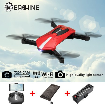 EACHINE E52 Drone With 0.3MP/2MP HD Camera Live Video, WIFI FPV BNF/RTF Quadcopter Foldable Drone - One Key Take Off/Landing, Headless Mode, APP/Remote Control, RC Flying (Heli Max 1sq V Cam Rtf Quadcopter)
