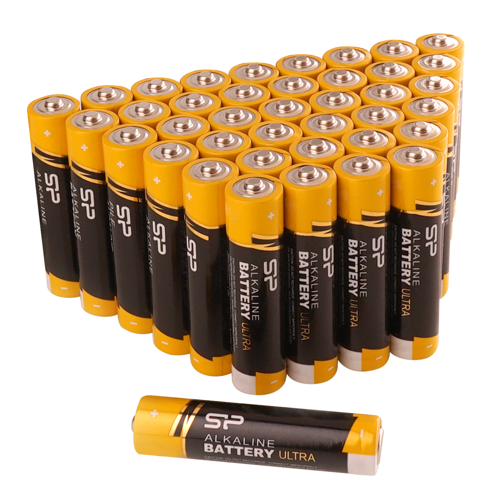 Silicon Power Ultra Alkaline AAA Batteries, 40 Count