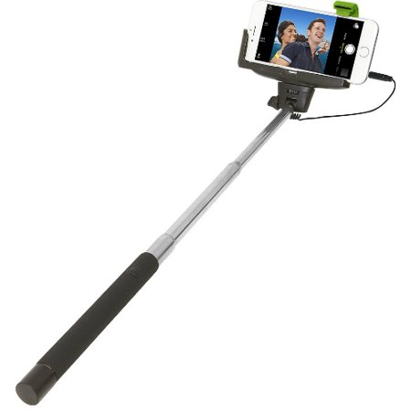 - Retrack Apple iPhone 4/5/5s/6 and Samsung Galaxy S 3/4 Selfie Stick with Wired Shutter