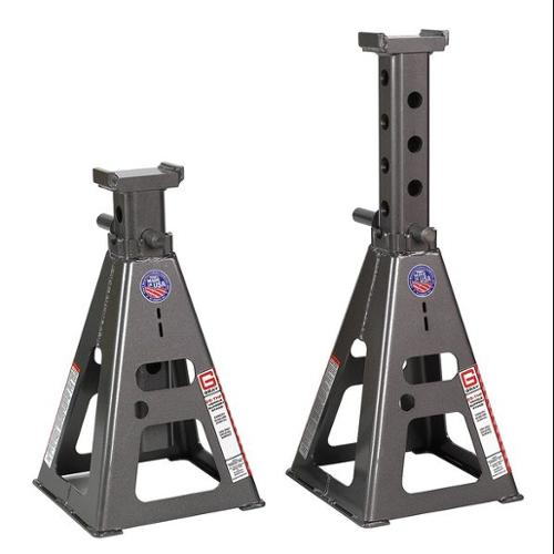 GRAY 25T-H Stands Vehicle Stand, Pin Style, 25 Tons, Tall