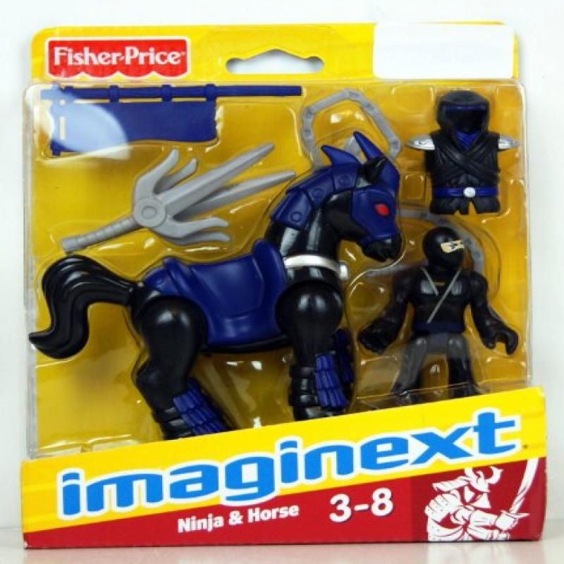 Fisher Price Imaginext Black Ninja and Horse