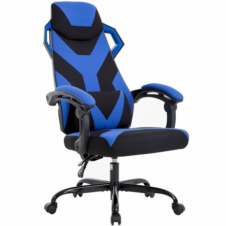Ergonomic Gaming Chair Racing Office Chair High-Back Fabric Desk Chair Executive Swivel Rolling Computer Chair Lumbar Support For Back Pain,