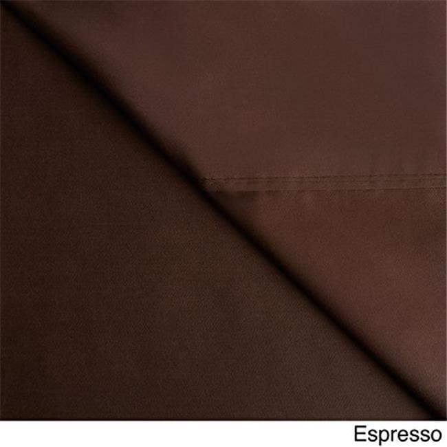 Veratex VX736425640131 300Tc Solid Sheet Set, Espresso - Queen - image 1 of 1