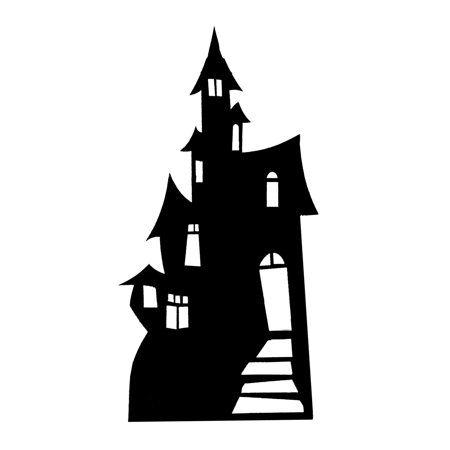 Star Cutouts Haunted House (Silhouette) Cardboard Cutout Life Standup - Circus Stand In Cutouts