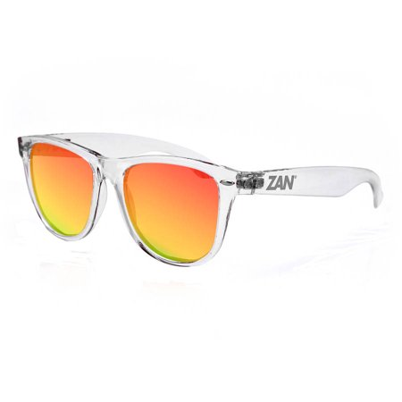 Minty Sunglasses with Crystal Clear Smoked Crimson (Clear Frame Mirrored Sunglasses)