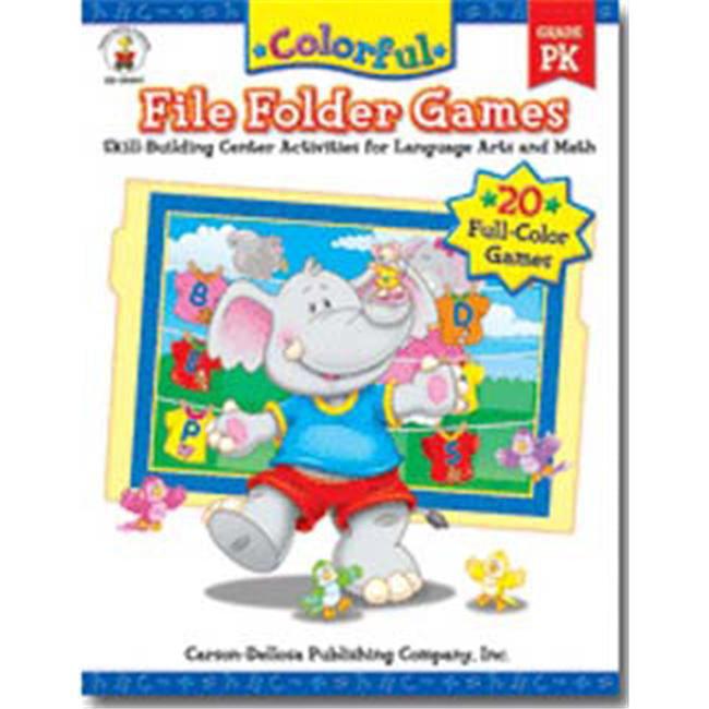 Carson Dellosa Cd 104047 Colorful File Folder Games Prek