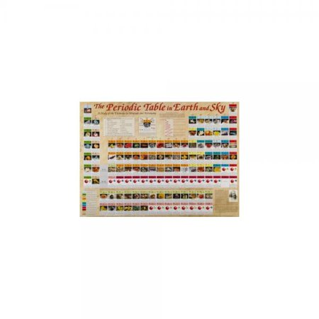 Image of American Educational JPT-7200 Periodic Table In Earth and Sky Poster, 38-1/2 Length x 27 Width